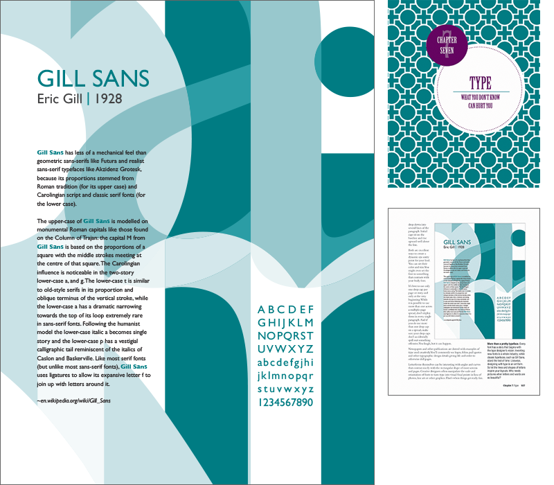 Gill Sans Poster by Rebecca Hagen for White Space is Not Your Enemy, 3rd Edition