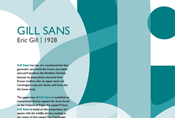 Gill Sans Poster