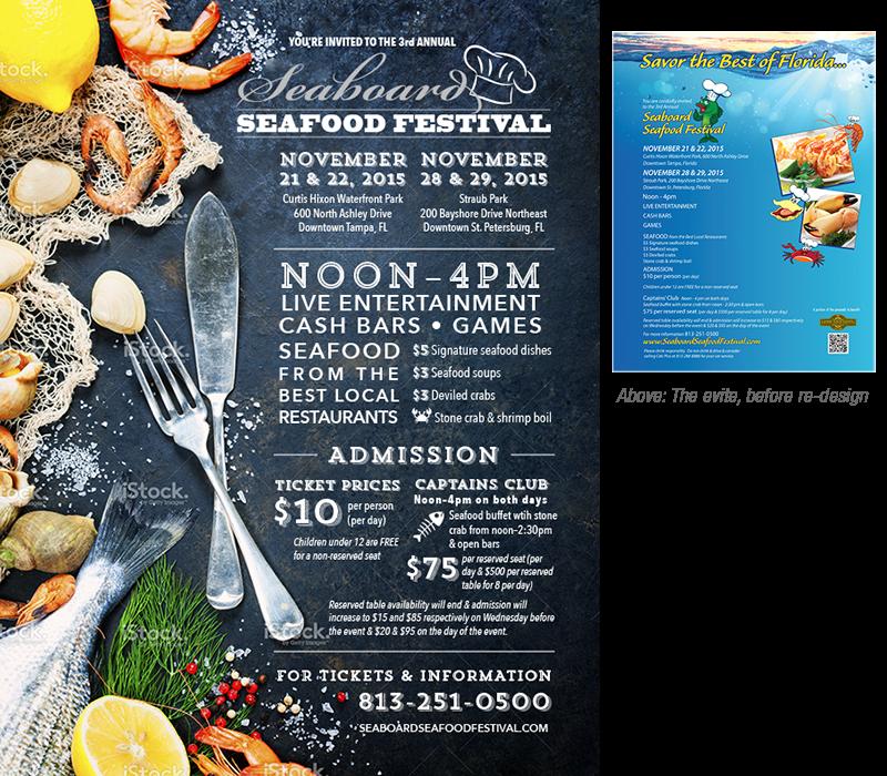 Seafood Festival E-vite concept by Rebecca Hagen