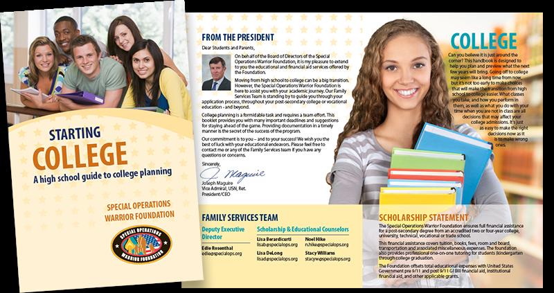 SOWF Starting College brochure