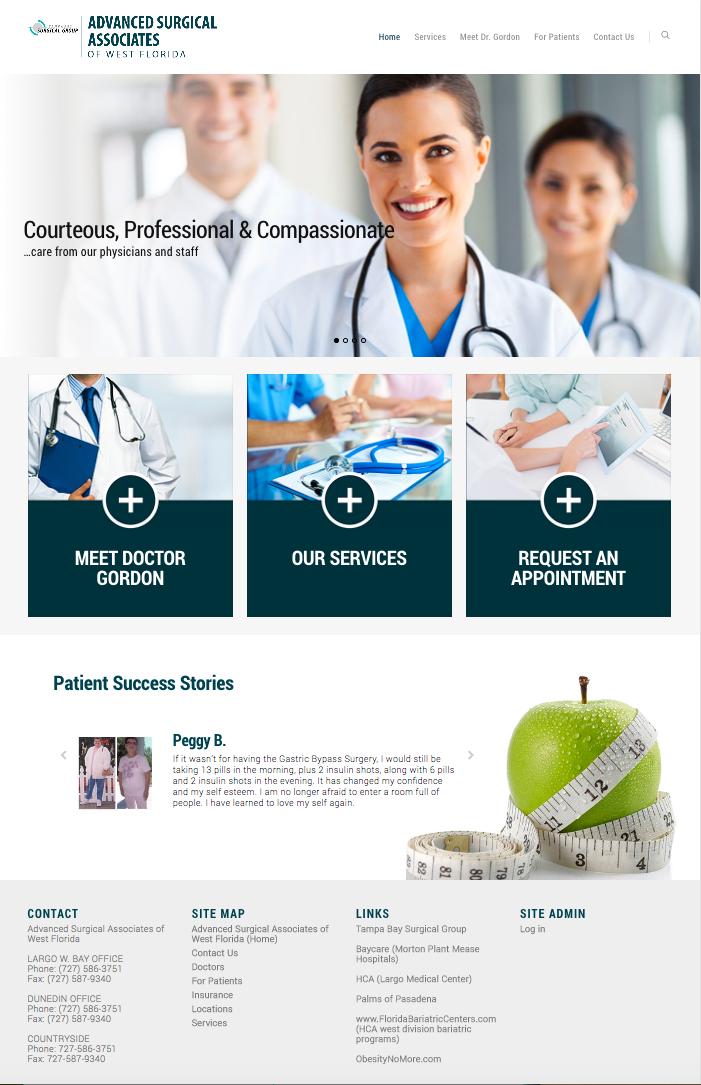 Advanced Surgical Associates website
