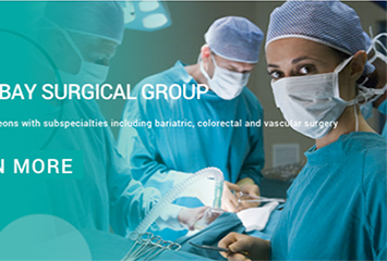 Tampa Bay Surgical Group website, designed by Sky Lake Design Studio