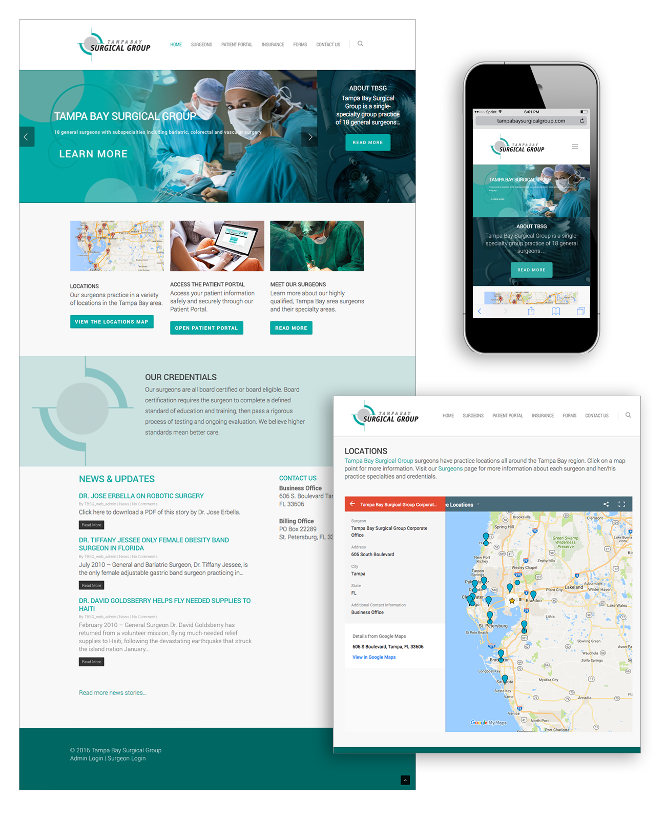 Tampa Bay Surgical Group website
