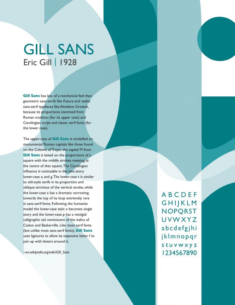 Gill Sans Font Poster Illustration of type-only design
