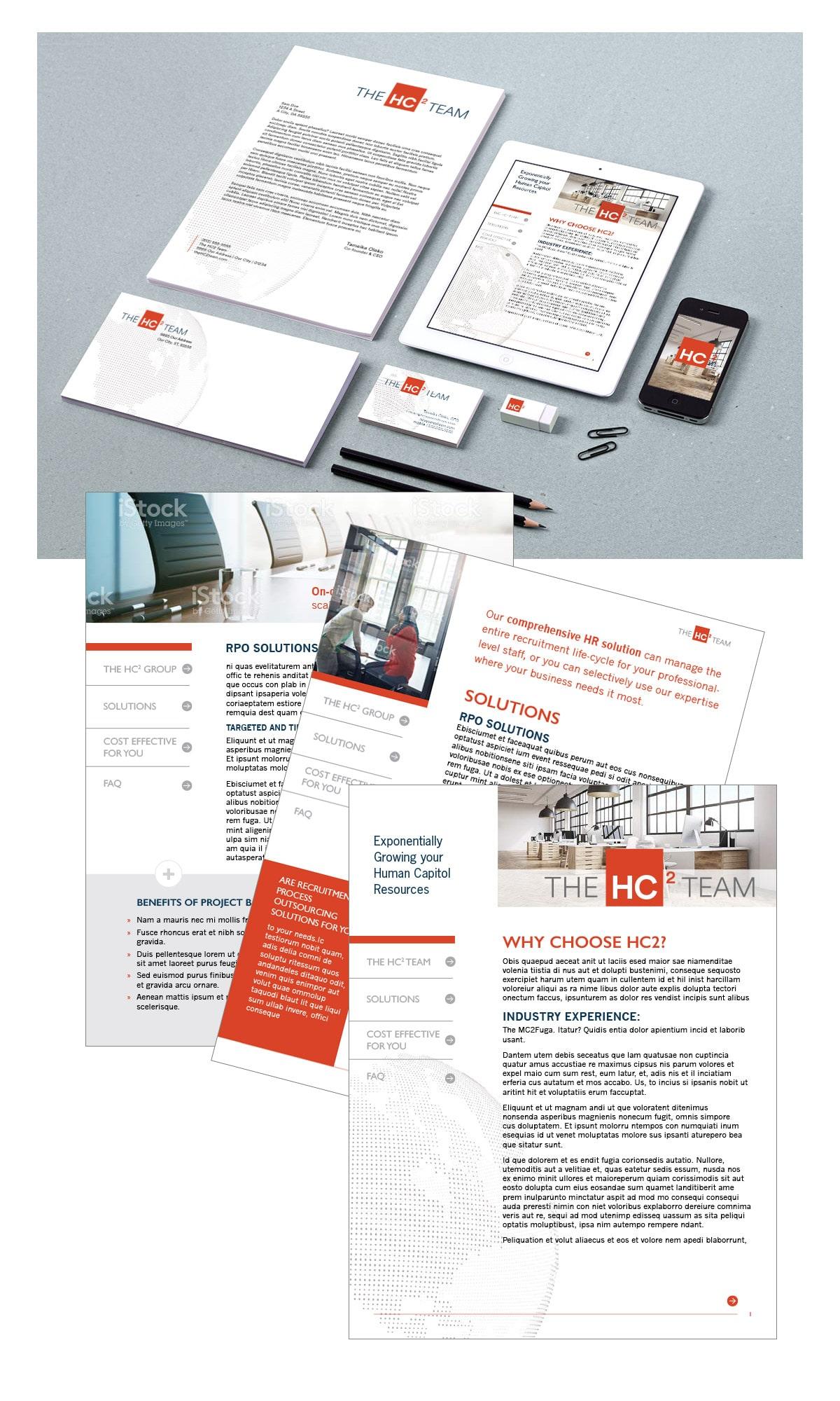 Digital brochure concept and branding