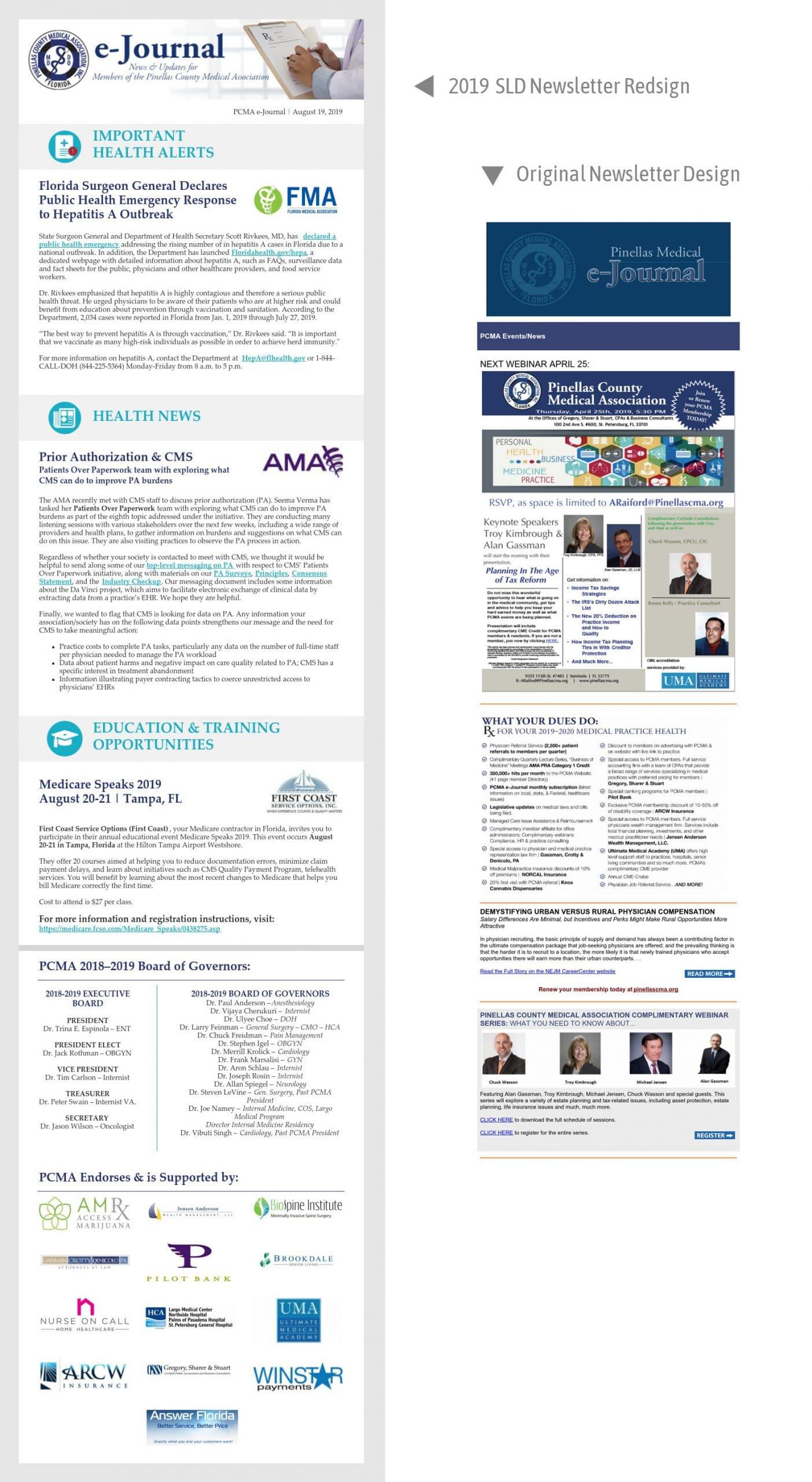 PCMA Newsletter Redesign