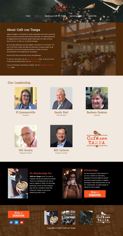 Café con Tampa website