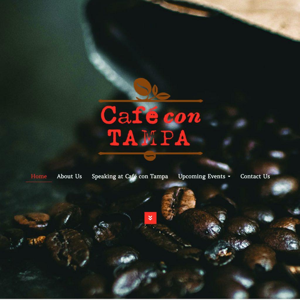 Cafe con Tampa website